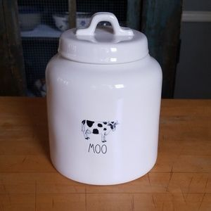 """Rae Dunn """"Moo"""" Large Canister"""